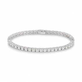 White Gold Princess Cut Diamond Line Bracelet 8.61ct